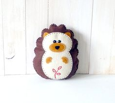 Stuffed Hedgehog PATTERN // Sew by Hand Plush Felt Stuffed Animal PDF // Suitable for Beginners