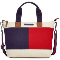 Tommy Hilfiger Flag Colorblock Shopper (€55) ❤ liked on Polyvore featuring bags, handbags, tote bags, parachute, tommy hilfiger, color block purse, tommy hilfiger tote bag, color block tote and color block tote bag