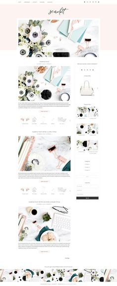 Scarlett - WordPress Theme by Bella Creative Studio on @Graphicsauthor