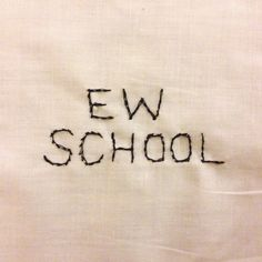 ew school nude embroidery