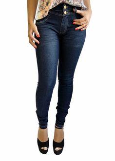 Biotipo Calça Jeans Feminina Resinado