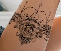 """lace garter tattoo design - """"Amazing Tattoo starts with a quality drawing first … """" All our tattoo designs are authentic - Back Tattoos, Foot Tattoos, Tattoos For Guys, Maori Tattoos, Polynesian Tattoos, Arm Tattoo, Tattos, Lace Garter Tattoos, Anklet Tattoos"""