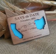 *This Listing is for State love Wood Save-The-Date Magnets, eco friendly, laser cut save the dates suitable for every destination wedding.*