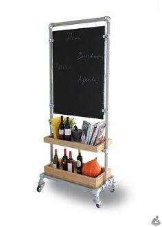 kee clamp   Kee Klamp shelf with chalkboard.