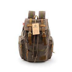 BLUBOON(TM) Vintage Men Casual Canvas Leather Backpack Rucksack Bookbag Satchel Hiking Bag (Army green) BLUBOON http://www.amazon.com/dp/B00JUNSRTY/ref=cm_sw_r_pi_dp_u.xFub1D5T1BA