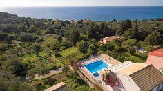 Villa Armonia - Corfu Villas In Corfu, Villa With Private Pool, Vintage Travel, Sun Lounger, Garden Landscaping, Terrace, Greece, Landscape, Beach