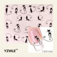 [Visit to Buy] YZWLE 1 Sheet New Nail Art Moustache Stickers Decals Water Transfer Wraps Decorations Manicure Care Tools #Advertisement