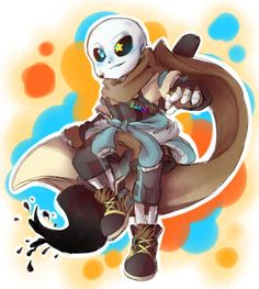 Ink Sans by thegreatrouge. I love these different AU sans ^^
