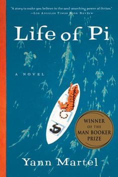 Life of Pi--The son of a zookeeper, Pi Patel has an encyclopedic knowledge of animal behavior and a fervent love of stories. When Pi is sixteen, his family emigrates from India to North America aboard a Japanese cargo ship, along with their zoo animals bound for new homes.