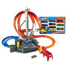 EXCLUSIVE! Hot Wheels® Spin Storm™ Track Set & 9 Car Pack Gift Set - Shop.Mattel.com