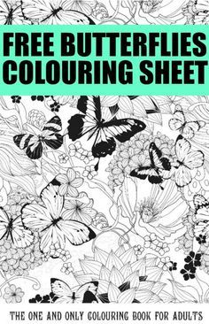 Free Butterflies Coloring Page - cute printable that's perfect for adult coloring