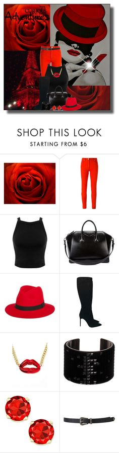"""""""Red and Black Style"""" by superstylist ❤ liked on Polyvore featuring Versace, Miss Selfridge, Givenchy, Armitage Avenue, Manolo Blahnik, Swarovski and Forever 21"""