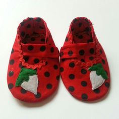 Strawberry shoes forever! @ https://www.etsy.com/shop/Cuddlythreads