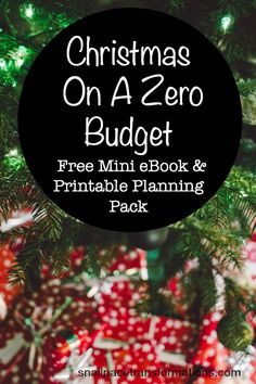 Trying to find money for Christmas presents--the Christmas On A Zero Budget free mini eBook can help