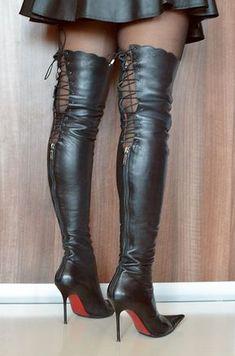 high heels – High Heels Daily Heels, stilettos and women's Shoes Thigh High Boots Heels, Stiletto Boots, Tights And Boots, Sexy Boots, Black High Heels, Heeled Boots, Botas Sexy, Nylons Heels, Hot Heels