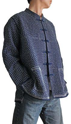 Organic cotton   Embroidery   Coat   Embroidery:sasiko(japanese)刺し子