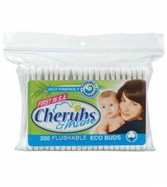 Cherubs Flushable Eco-Buds (200's) Baby Toiletries, Baby Shampoo, Cherubs, Baby Essentials, Bud, City, Layette, Cities, Gem