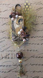 KittysScrapPost: Altered Dominoes Domino Jewelry, Mixed Media Jewelry, Resin Jewelry, Jewelry Crafts, Jewelry Art, Beaded Jewelry, Beaded Bracelets, Domino Art, Bead Jewelry