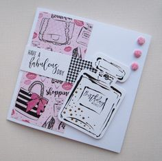 Card designed by Kath Woods using the Fabulous Fashionista collection from Craftwork Cards Kanban Cards, Appreciation Cards, Craftwork Cards, Echo Park Paper, Birthday Cards For Women, Bday Cards, Baby Album, Birthday Wishes, Happy Birthday