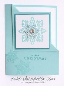 Julie's Stamping Spot -- Stampin' Up! Project Ideas by Julie Davison: Flurry of Wishes Corner Flip Card + Video Tutorial