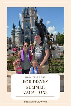 If you are like our family who prefer Disney Summer Vacations, then you will want to read on how to dress for Disney in the summer time.