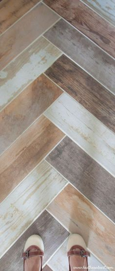 faux wood tile porcelain 6x24 from Home Depot (affiliate) from http://www.heatherednest.com