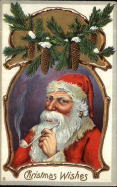 Santa Claus Pipe Pine Cones
