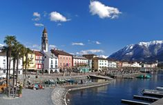 Ascona is a Swiss town on the shore of Lake Maggiore Lake Maggiore Italy, Cheap Flights To Europe, Switzerland Cities, Music Tours, Bungee Jumping, Naha, Round Trip, Most Visited, Outdoor Travel
