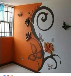 When looking to a source for interior decorating inspiration, be critical in a way that will help you to refine and define your own taste. When turning to the work of another designer for decorating ideas, carefully look at the room and consider the Wall Painting Decor, Paint Designs, Diy Wall, Wall Design, 3d Design, Design Ideas, Wall Murals, 3d Wall Art, Diy Home Decor