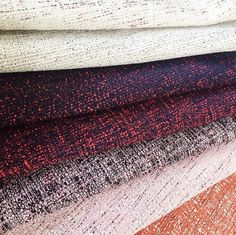 We were lusting over these beautiful textural fabrics from @kvadrattextiles in a gorgeous pallet (how about those pastel pinks!) #kvadrat #fabric #mimdesignsupplier #interiordesign #furnituredesign #colourpalette #pink