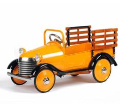 Orange truck pedal car