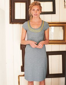 Women's Necklace Dress - Grey...