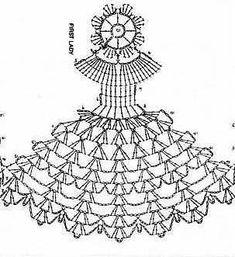 Crochet Crinoline Lady Doily with an umbrella lace Appliqu Stitch Crochet, Crochet Art, Thread Crochet, Cute Crochet, Crochet Motif, Crochet Doilies, Crochet Stitches, Crochet Applique Patterns Free, Crochet Flower Patterns
