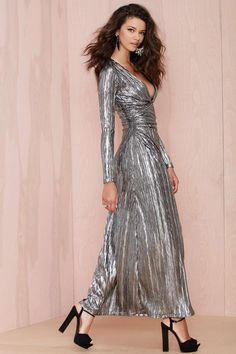 Nasty Gal Alloy Crinkle Dress