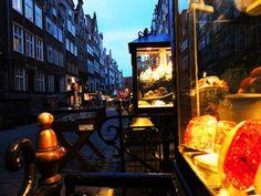 #Gdansk by #night. #architecture #mariacka #street #amber #bursztyn #alley #tenement / photo: Roberto M. Polce