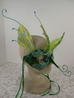 Green Masquerade Mask by leopardsleap on Etsy, $110.00