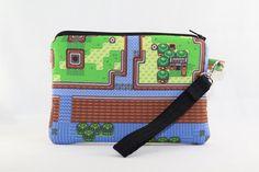 Legend of Zelda Map Wristlet Wallet Bag Large by RedShirtCreations, $16.95 #zelda #link #gamer