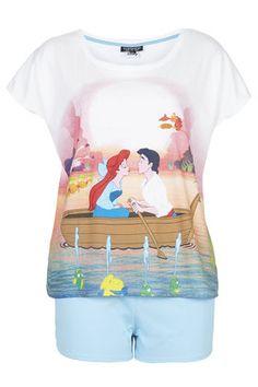 Little Mermaid Print Pyjama Set - Nightwear - Clothing - Topshop Disney Inspired Outfits, Disney Outfits, Disney Style, Disney Clothes, Disney Fashion, Cute Pjs, Cute Pajamas, Disney Pajamas, Disney Shirts