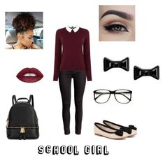 """""""School Girl"""" by destinys-untold on Polyvore featuring Oasis, Human Premium, Michael Kors, Marc by Marc Jacobs, women's clothing, women, female, woman, misses and juniors"""