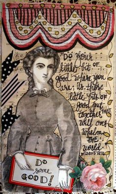 Do a little good...a new page from one of my art journals.