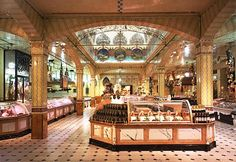 While shopping at Harrods, be sure to visit the Food Emporium. It is amazing.