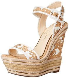 d3bb5c3c0 Jessica Simpson Womens Ayala Wedge Sandal NaturalWhite 8 M US     Continue  to the product at the image link.
