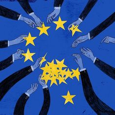 Did an illustration for today's NYT Sunday Editorial. This piece is about how to fix the European Union and address the dissatisfaction that many Europeans have with it (example: Brexit). We fundamentally believe in it but it needs to be made stronger and respond to legitimate concerns that many people have - making it more democratic, improving the economy, and having a cohesive immigration plan.