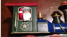 Christmas Train Ornament Light Motion & Sound by Times3Vintage