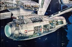 Detail from Star Trek: TMP poster of the Enterprise Refit. I had this poster. Vaisseau Star Trek, Science Fiction, Starfleet Ships, 70s Sci Fi Art, Star Trek Starships, Star Trek Enterprise, Enterprise Model, Star Trek Ships, Star Trek Universe