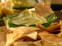 Avocado Goat Cheese Dip with Whole-Wheat Pita Chips