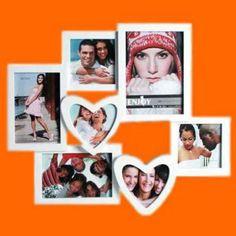 Romantický fotorámček so srdiečkami (7 fotiek)