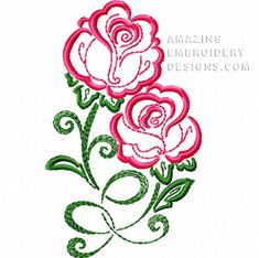 This free embroidery design from Amazing Embroidery Designs is a rose.