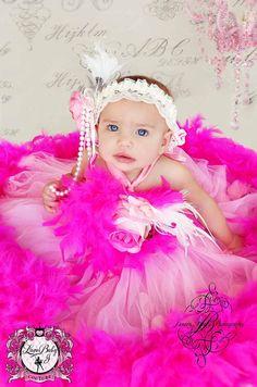 A Little Piece Of Heaven... A Feather Tutu Dress For Little Girls