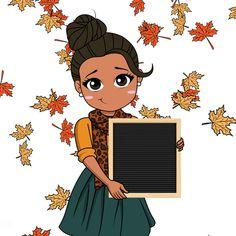 Happy November, Hello November, Black Girl Cartoon, Cute Cartoon Girl, Black Girls Power, Girl Power, Hello Cute, Drawings Of Black Girls, Hug Gif